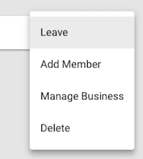 More options menu with leave